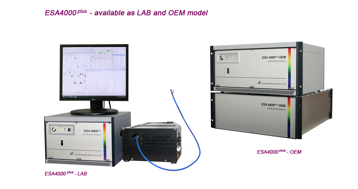 Echelle spectrometer / Echelle spectrograph for LIBS measurements, multi element analysis and science